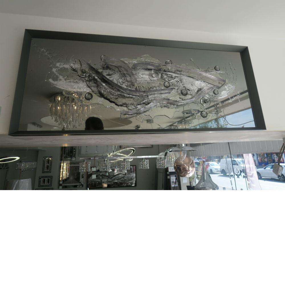 Liquid Art And Glass with Swarovski Crystal 125 x 52