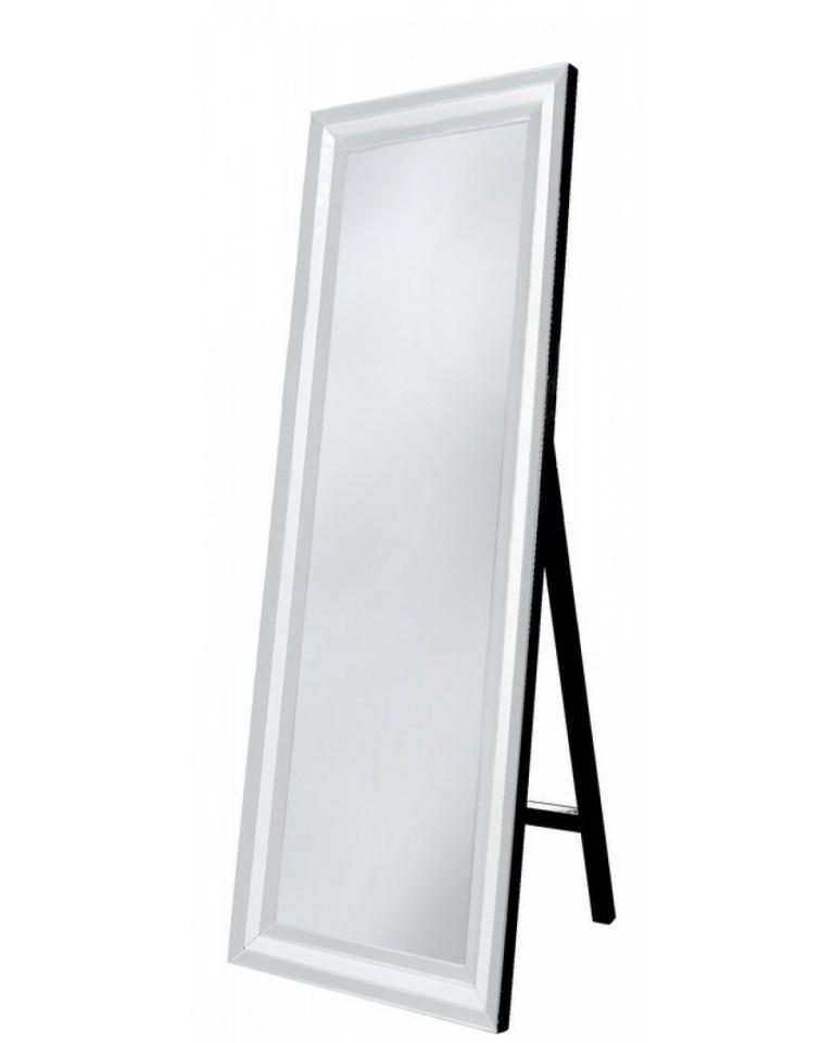 Manhattan White Floor Mirror