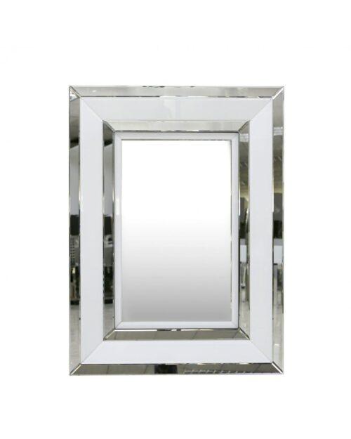 White Mirrored Wall Mirror