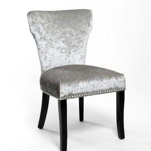Windsor Crushed Velvet Silver Chair