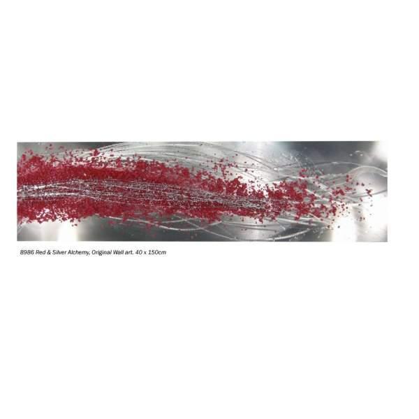 Red Silver Alchemy Wall Art