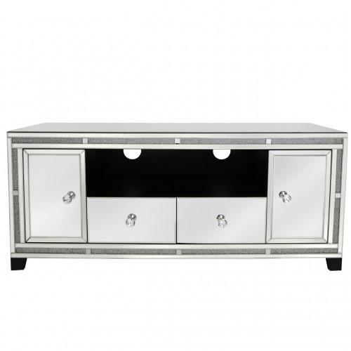 Milano mirror 2 drawer 2 door TV cabinet