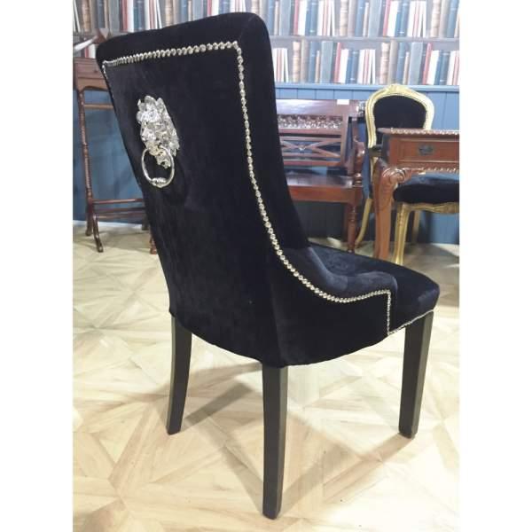 Lion Black Velvet Dining Chair